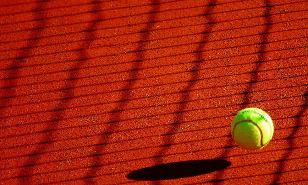 ball on clay court