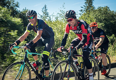 bicycling to minimize health risks